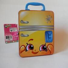 Shopkins FROST T FRIDGE Box Case Lunchbox & Card Game Minor scratch see descrip