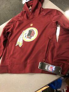 Washington Redskins HOODY YOUTH/BOYS BURGUNDY DRY-FIT NFL PRINTED LOGO