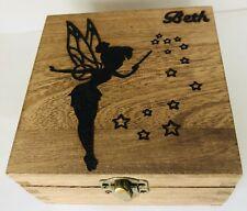 Personalised Jewellery Memory Box 12cm Tinkerbell Peter Pan Christmas Gift Fairy