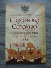 2 euro Commémorative SAINT MARIN 2006 CHRISTOPHE COLOMB