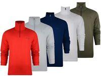 Fila Mens Long Sleeve Tracksuit Top Half Zip Pullover Sweatshirt Active wear