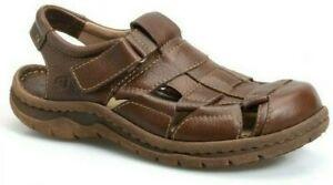 Born Cabot 2 Fisherman Comfort Sandal Walnut Brown Leather H39606 Men's 13 NEW