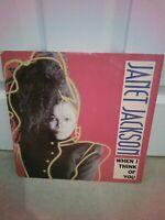 """Janet Jackson – When I Think Of You Vinyl 12"""" Single UK AMY 337 1986"""