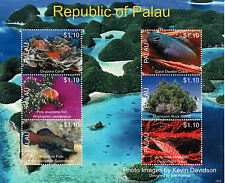 Palau 2013 MNH Marine Life Hawkfish III 6v M/S Corals Fish Fishes Stamps