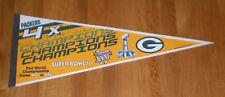PACKERS 4X Super Bowl CHAMPS pennant SB I II XXXI XLV Starr Favre Aaron Rodgers
