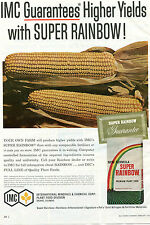 1966 PRINT AD of IMC Super Rainbow Premium Corn Plant Food