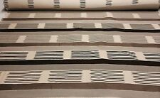 """ROBERT ALLEN UPHOLSTERY STRIPE BROWN TAUPE NATURAL JACQUARD 7 YARD 54"""" WIDE"""