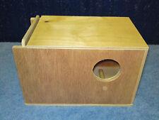 2 x Budgie Nest Boxes 1 Left &1 Right Entry Aviary Breeding Bird Nesting Box
