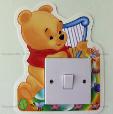 Disney Baby Winnie The Pooh Light Switch Wall Sticker Glow In The Dark