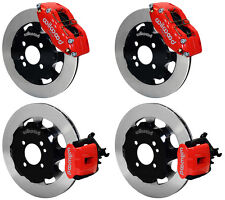 "WILWOOD DISC BRAKE KIT,COMPLETE,MINI-COOPER,S,BMW,12"" ROTORS,RED CALIPERS"