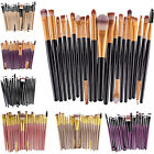 20Pcs Cosmetic Powder Foundation Eyeshadow Eyeliner Lip Makeup Brushes Set