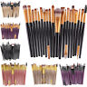 20 Pcs Cosmetic Powder Foundation Eyeshadow Eyeliner Lip Pro Makeup Brush Set.