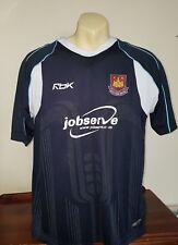 2006 2007 WEST HAM football shirt jersey top Reebok black away Large  TEVEZ era