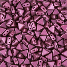 Kheops® Par Puca® Czech Glass Triangle Seed Beads Pastel Burgundy 6mm 9g (K99/2)