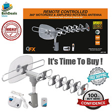 Long Range Outdoor D-TV Antenna Digital Amplified Rotating ANT105 Signal Booster