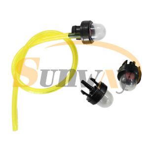 3 Snap in primer bulb & Line for HUSQVARNA 345 346 350 353 850 Chainsaw Strimmer