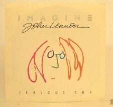 "John Lennon ""Jealous Guy"" b/w ""Give Peace a Chance"" 1988 Capitol 45rpm w/ PS"