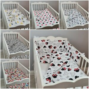 2pcs BEDDING SET BABY for crib cot cot bed PILLOWCASE DUVET COVER CARS FLOWERS