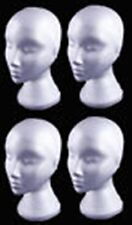 4 X FEMALE POLYSTYRENE DISPLAY HEADS (BRAND NEW IN GREAT PRICE)