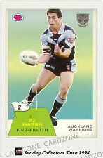 2003 Select NRL Scanlens Trading Card Retro #2: P.J Marsh (Warriors)