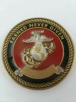 "USMC ""The Crucible"" Earned Never Given Engravable Challenge Coin"