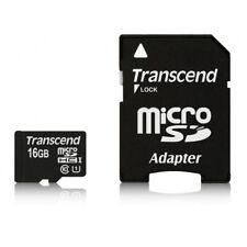 Transcend 16GB MicroSDHC with Adaptor Class 10