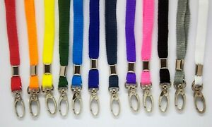 Lanyard Neck Strap with Metal Lobster Clip - Choose Your Colour - Free P&P