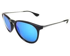 New Ray Ban Erika RB4171 601/55 Black/Blue Mirror 54mm Sunglasses