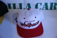 97268ccab48 vintage north Carolina state wolf pack sport specialty snapback white red  baseba