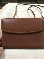 Vintage Coach Wallet On A String Travel Passport Brown Leather