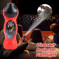 24 Dinosaur Patterns Flashlight Projector Lamp Educational Toy Kids Xmas Gift AU