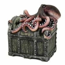 Treasure Chest with Octopus Collectible Trinket Box
