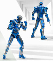 Comicave 1/12 Iron Man Mark 30 LED Light Flexible Action Figure Blue Steel Ver.
