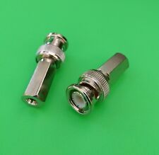 (5 PCS) BNC Male Twist-On Connector for RG58 - USA Seller