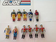 Lot of 11 Army Builder GI Joe 1987 Action Figures Sneak Peek Static Line Big Boa
