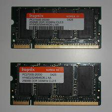 Memoria HYNIX HYMD232M646D6-J AA PC2700S-25330 256MB DDR 333MHz CL2.5 SODIMM