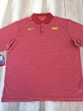 XX-Large 289c apparel USC Trojans Mens Grey Pine Synthetic Polo Shirt
