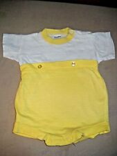 Vintage Baby Toddle Time Knit One Piece  Romper size 0-3 mos. Cotton