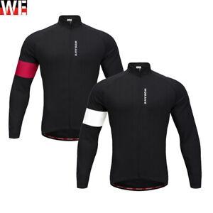 Long Sleeve Cycling Jacket Windstopper Winter Thermal Fleece Windproof Coat NEW