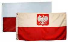 3x5 3'x5' Wholesale Combo Poland Polish Polska Eagle Plain Flag Grommets