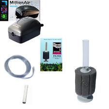 AAP Hydro Sponge Filter 3, Aquarium Filter/Air Pump COMBINATION, includes tubing
