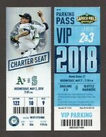 ICHIRO LAST GAME SEATTLE JAMES PAXTON 16K Mariners A's 5/2/2018 Full Ticket VIP