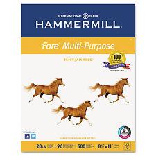 Hammermill Fore MP Multipurpose Paper 96 Brightness 20lb 8-1/2x11 White 5000