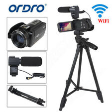 "Ordro HDV-Z20 1080P Microphone Video Camera 3.0"" 16X 24MP HDMI Camcorder +Tripod"