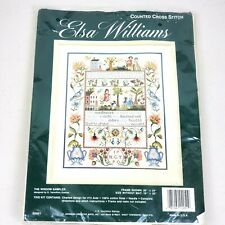 "VINTAGE Elsa Williams ""The Wisdom Sampler"" Counted Cross Stitch Giampa USA"