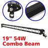 "1X 19"" 54W LED Light Bar Cree 4X4 Combo Flood Spot Beam Offroad 4WD Truck 12V"