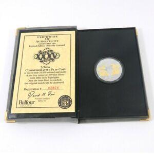 Highland Mint Super Bowl XXXV Giants/Ravens Flip Coin One Troy Oz Silver Coin