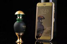 Samsung Galaxy s6 Edge espejo abatible, móvil, funda oro bolso protectora móvil