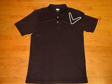 Mens L Callaway Golf Polo Shirt Short Sleeve Large Black