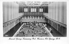 RPPC Mineral Springs Swimming Pool Harrison Hot Springs, BC Vintage Postcard